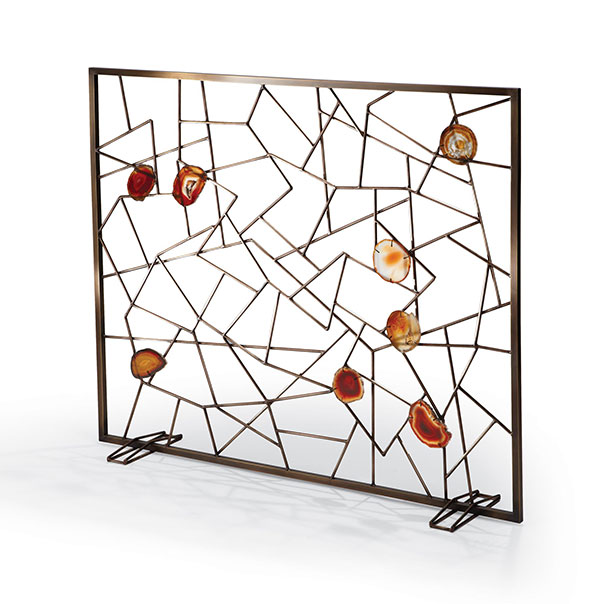 Tuell and Reynolds - Venice Fireplace Screen